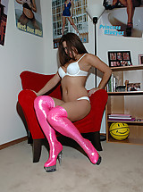 Hot pink boots ... really hot